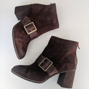 Kork Ease Brown Buckle Boots